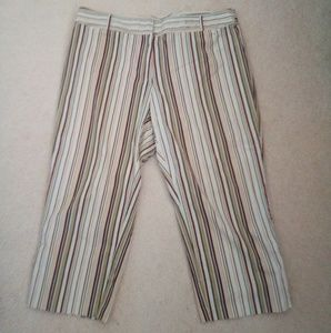 Venezia jeans stretch striped Capri pants